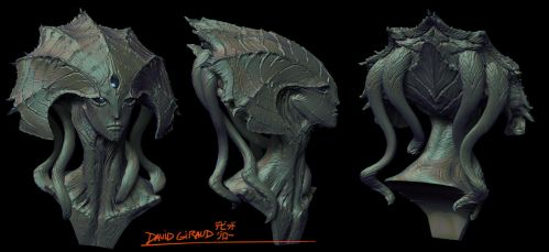 Clam alien Zbrush by mojette
