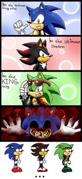 Sonic stupid mini comic by KyuubiCore
