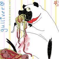 E7: Gulliver becoming fatter by suzanami
