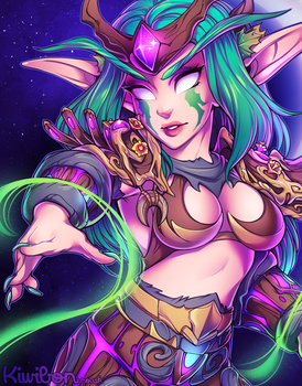 Night elf by Kiwibon
