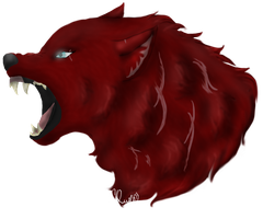 Commission: BrokenWolf (with scars) by ChocolateQuill