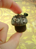 Antiqued Industrial Cupcake by monsterkookies
