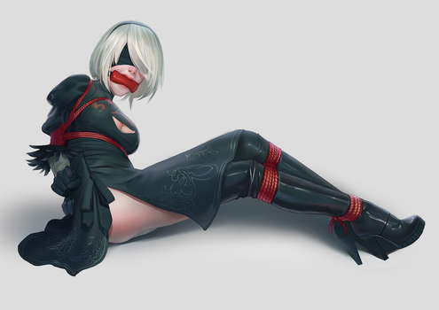 My Commission: 2B by gh0st-of-Ronin