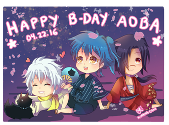 -- DMMD : Happy Birthday Aoba 2016 -- by Kurama-chan