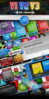 BUNDLE - 225 Web 2.0 Elements by imonedesign