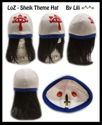 LOZ - Sheik Theme Hat by LiliNeko