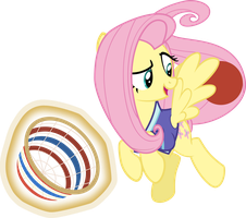 Fluttershy The Buckball Champion by Comeha