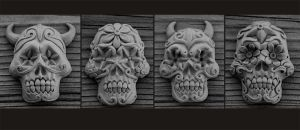 Day of the Dead Skulls by rgyoung