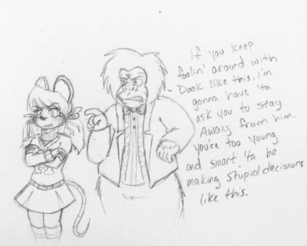 Gorilla Dad Does Not Approve. by DorkyDarkwing