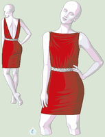 Dress 01 (red tube) by Hibisco0