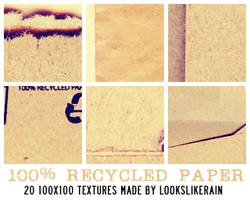 100 Percent Recycled Paper by lookslikerain