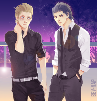 Night Out (Prompto/Noct) by Bev-Nap