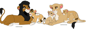 My family as lions by kopaisfluffy