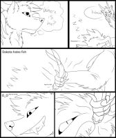 Dakota and Aisher Comic Pg 1 by Redwolfless