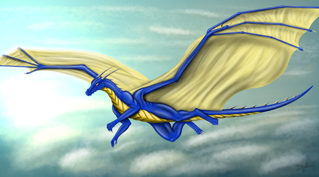 Between clouds by gryphon1