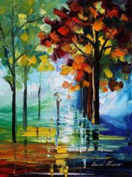 Fresh Park by Leonid Afremov by Leonidafremov