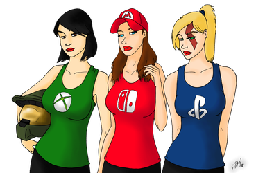 Gamer Girls by DubyaScott