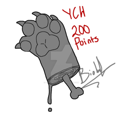 (OPEN) YCH Furry paw chops by Mochathespoongirl