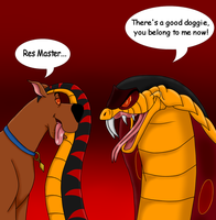 jafar and scooby : trade art from solitarygraywolf by valentinfrench