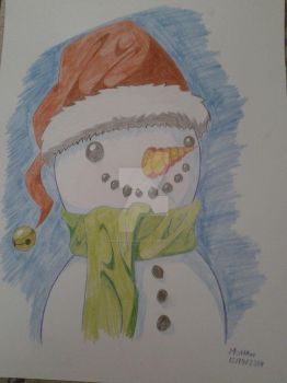 Snowman Sketch by mohan11261126