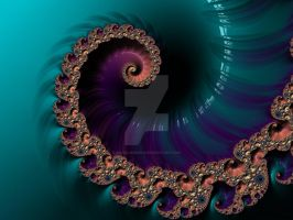 The Royal Blue Spiral by rahulmukerji