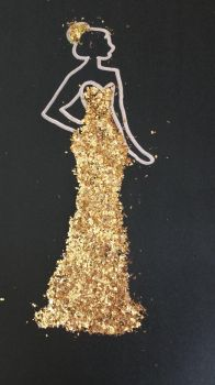 Golden Glitter Dress by LeDarkness1