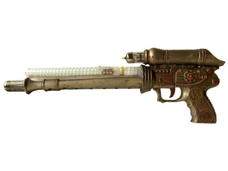 A Steampunk Gun from Dollar Store Items by geekymcfangirl