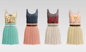 Bird Lullaby Dress DL by Reseliee