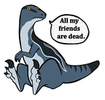 All my friends are dead Blue sticker ETC by CasFlores