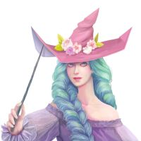 Seasonal witch - Spring || with painting process by fcnjt