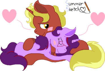Firey Hearts by SummerSketch-MLP