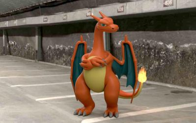 3D Charizard Composite Scene 2 by LordOfDragons