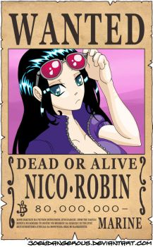 WANTED Dead or Alive - Nico Robin by JoeOiii