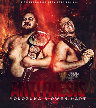 Yokozuna and Owen Hart by Ara-Designs