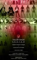 tailor-made: sketch fashion design + ref sheet by fydbac