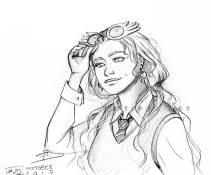 Inktober 2017 : Luna Lovegood by Tiphs