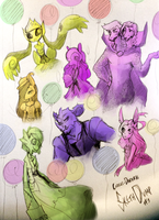 C-D Sketchdump 3 by RosariaBec