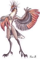 my hoatzin anthro by f0xyme
