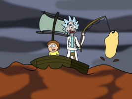 Get the Net, Morty! Get the Net! by AfroOtaku917