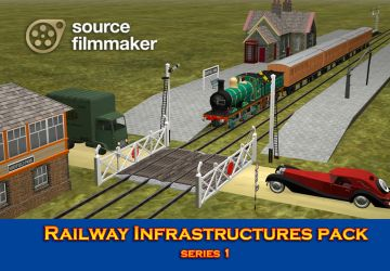 [SFM Models] Railway Infrastructures - Series 1 by YanPictures