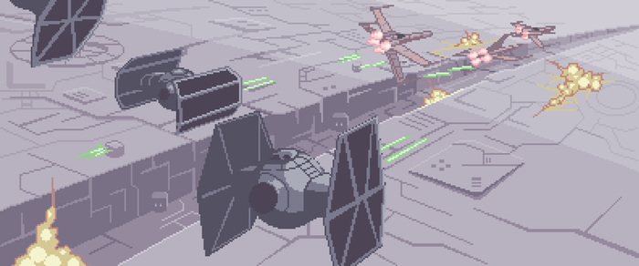 Dogfight at Deathstar for Jedi's project collab by Cecihoney