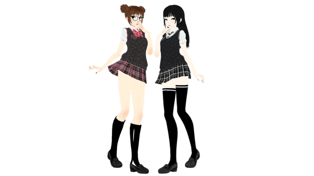 [MMD]School Uniform DL by UnluckyCandyFox