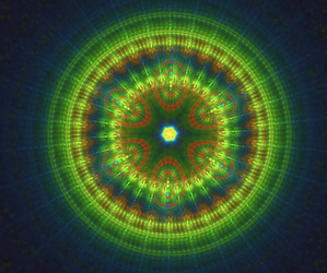 round fractal green thingy by TanithLipsky