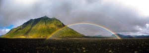 Mountain Hattafell and rainbow by LordBurevestnik
