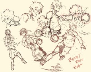 Basketball boys sketch dump by littlefoxproductions