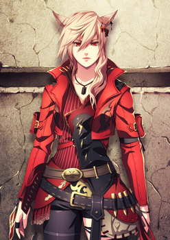 FFXIV character Commission 02 by aleph18