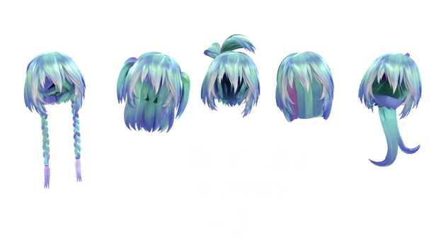 TDA Hair Edits + DL by Lumanaera