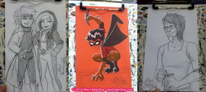 TriCon 2014 Sketch Cards by alex-heberling