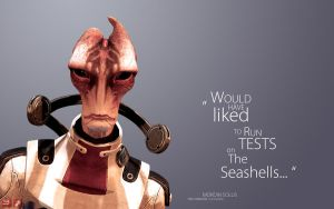 ME3 Wallpaper - Mordin *potential spoiler* by pineappletree