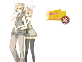 Kagamine Twins - Render by rina-imbers